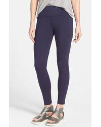 Eileen Fisher Women'S Stretch Knit Skinny Pants - Lyst