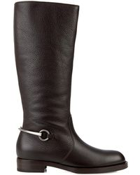 Gucci Horsebit Leather Riding Boots - Lyst