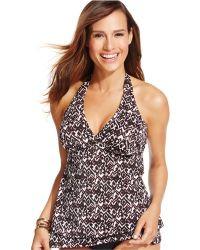 INC International Concepts - Printed Tankini Top - Lyst
