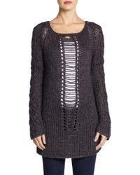 Cut25 By Yigal Azrouël Open Chunky Knit Sweater - Lyst