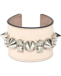 Alexander McQueen Spike Leather Cuff - Lyst