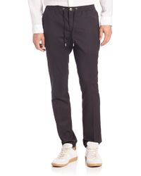 Michael Kors | Slim-fit Stretch-wool Track Pants | Lyst