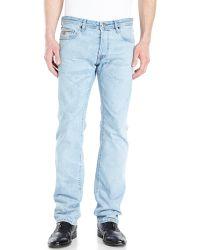 Just Cavalli Light Wash Regular Straight Leg Jeans - Lyst