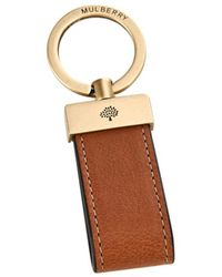 Mulberry Leather Loop Key Ring - Lyst