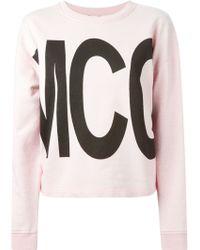 McQ by Alexander McQueen Logo-Print Cotton Sweatshirt - Lyst