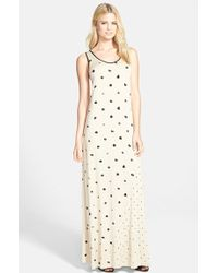 Kensie Dot Print Maxi Dress - Lyst