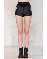 Nasty Gal Ranger Leather Shorts - Lyst