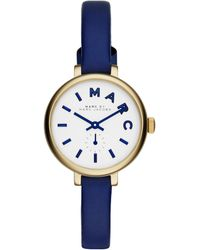 Marc By Marc Jacobs Sally Goldtone Stainless Steel & Leather Strap Watch - Lyst
