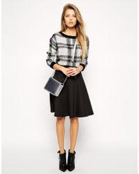 Asos Knee Length Skirt In Scuba - Lyst