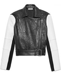 Helmut Lang Forge Leather Biker Jacket - Lyst