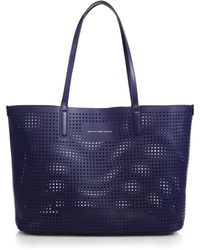 Marc By Marc Jacobs Metropolitote Perforated Tote blue - Lyst