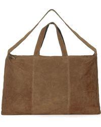 Topshop   Real Suede Luggage Bag   Lyst