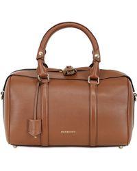 Burberry Medium Alchstrarm Leather Top Handle Bag - Lyst