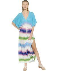 Missoni Viscose Knit Caftan Dress - Lyst