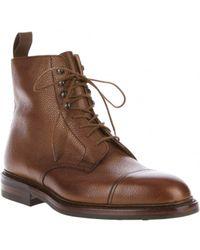 Crockett & Jones Crockett and Jones Coniston Brown Leather Boots - Lyst