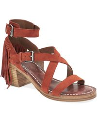 Belle By Sigerson Morrison Alisha Leather Sandals red - Lyst