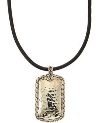 John Hardy Palu Hammered Sterling Silver Pendant Necklace - Lyst