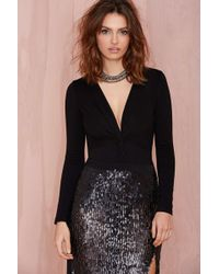Nasty Gal Knot Over You Knit Bodysuit - Lyst
