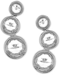 Vince Camuto - Gold-tone Crystal Circle Stud Earrings - Lyst