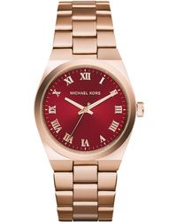 Michael Kors Womens Channing Rose Gold-tone Stainless Steel Bracelet Watch 38mm - Lyst