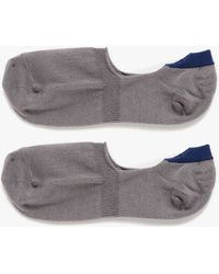 Mr Gray Loafer Sock Solid In Charcoal gray - Lyst