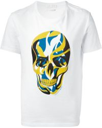 Alexander McQueen Abstract Skull Print T-Shirt - Lyst