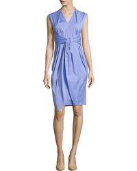 Lafayette 148 New York Corrine Tie-Waist Dress - Lyst