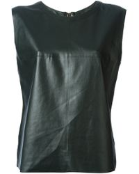 Costume National Leather Look Top - Lyst