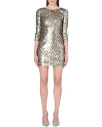 French Connection Winter Wave Sequin Dress - Lyst