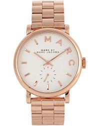 Marc Jacobs - Baker Rose Gold Tone Watch - Lyst