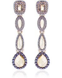 Shawn Ames - Juliette Earrings with Labradorite Blue Sapphires and Purple Sapphires - Lyst