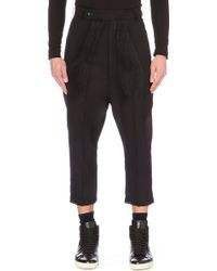 Rick Owens Astaires Cropped Wool Trousers - Lyst