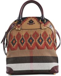 Burberry Prorsum Medium Bowling Bag in Velvet and Leather - Lyst