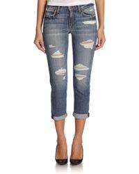 Joe's Jeans Gessa Slim Distressed Boyfriend Jeans - Lyst