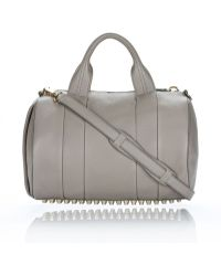 Alexander Wang Rocco In Oyster Soft Pebble Lamb With Pale Gold - Lyst