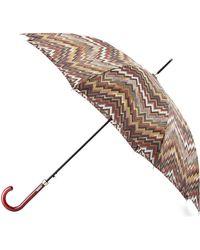 Missoni Zigzag Crook Handle Umbrella - Lyst