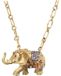 Aurelie Bidermann | Elephant Pendant Necklace | Lyst