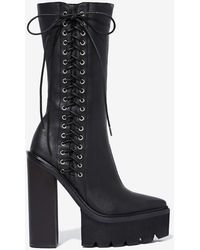 Nasty Gal Jeffrey Campbell Crazy 8 Leather Boot - Lyst