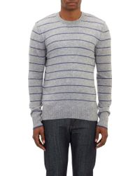 James Perse Thin-Stripe Pullover Sweater - Lyst