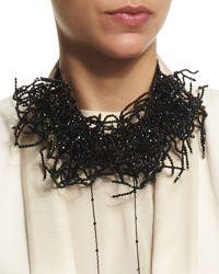 Brunello Cucinelli - Beaded Seaweed Choker Necklace - Lyst