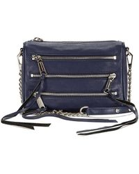 Rebecca Minkoff Mini 5-Zip Crossbody black - Lyst