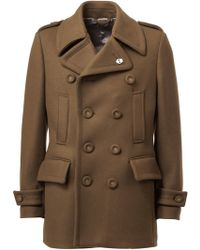 Wooster + Lardini - Double Breasted Peacoat - Lyst