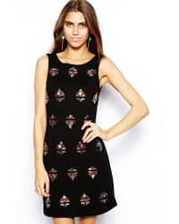 Forever Unique Beth Embellished Shift Dress - Lyst