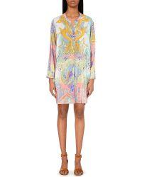 Emilio Pucci Printed Silk Shirt Dress - Lyst