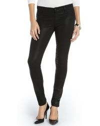 James Jeans Black Stretch Cotton Coated James Twiggy Skinny Jeans - Lyst