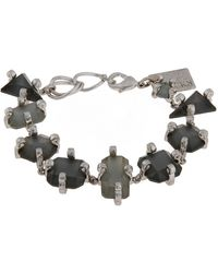 Erickson Beamon Rocks Gilded Lily Silvertone And Multi Stone Bracelet - Lyst