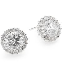 Saks Fifth Avenue Sparkle Button Earrings - Lyst