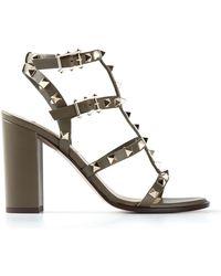 Valentino 'Rockstud' Sandals - Lyst