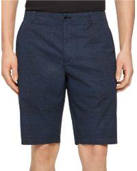 Calvin Klein Sifter Print Shorts blue - Lyst