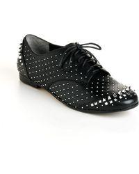 Rachel Roy Greer Studded Leather Oxfords - Lyst